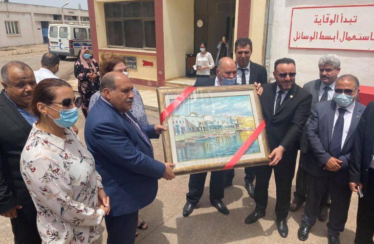 زيارة السيد وزير الصناعة والطاقة والمناجم بالنيابة مرفوقا بنظيره الليبي لاسمنت بنزرت